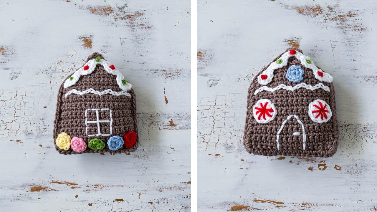 crochet gingerbread house christmas ornament - House Christmas Ornament