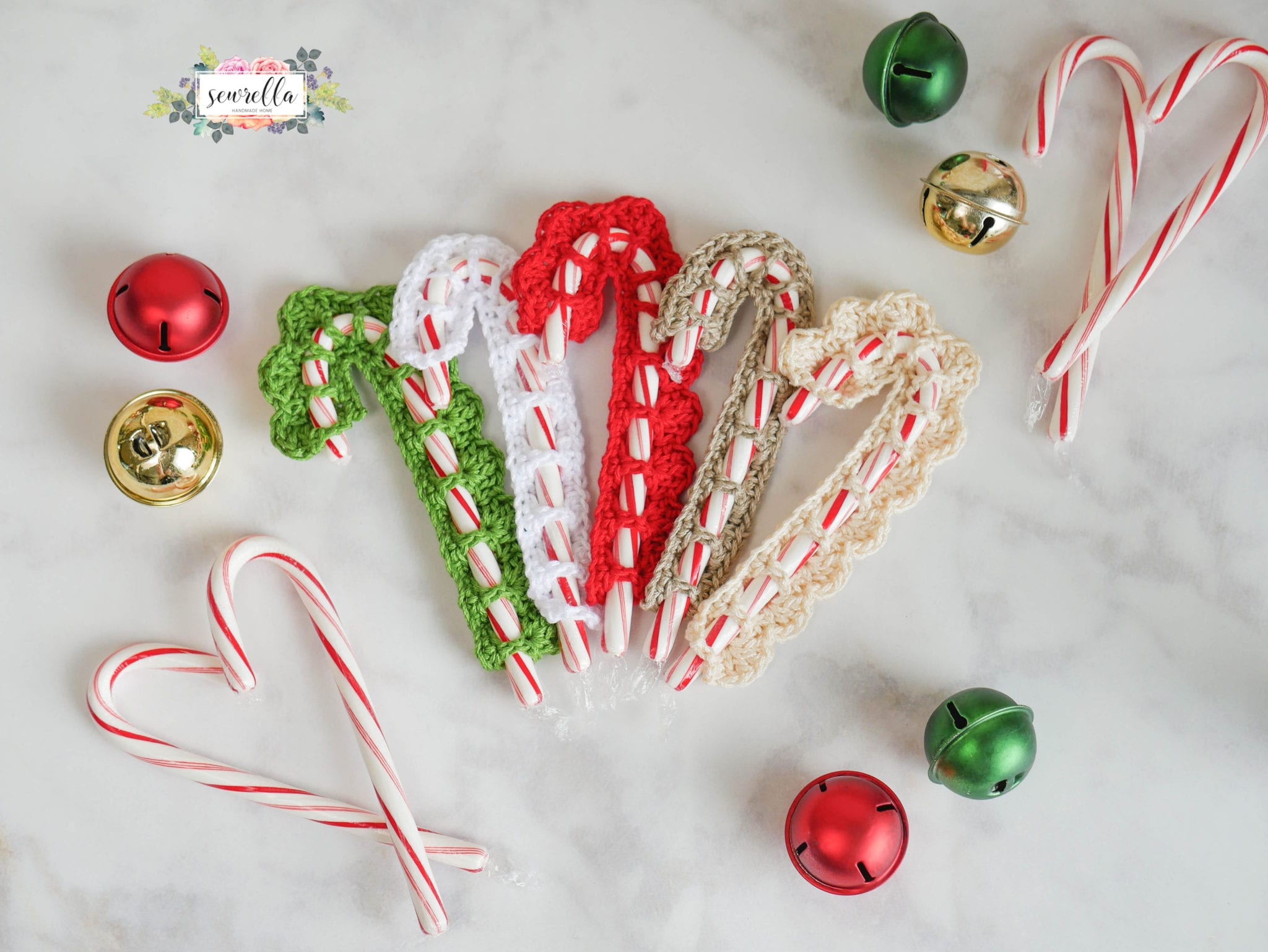 Crochet Christmas Candy Cane Cover Sewrella