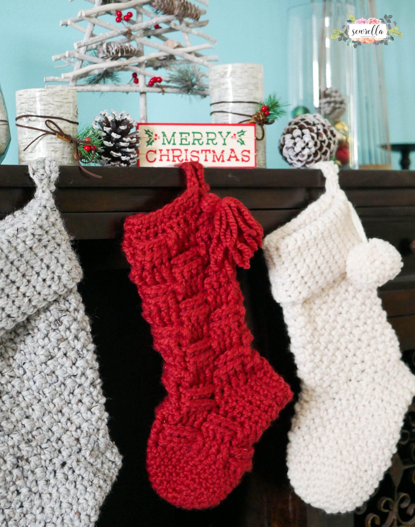 Jumbo Crochet Christmas Stockings - Sewrella