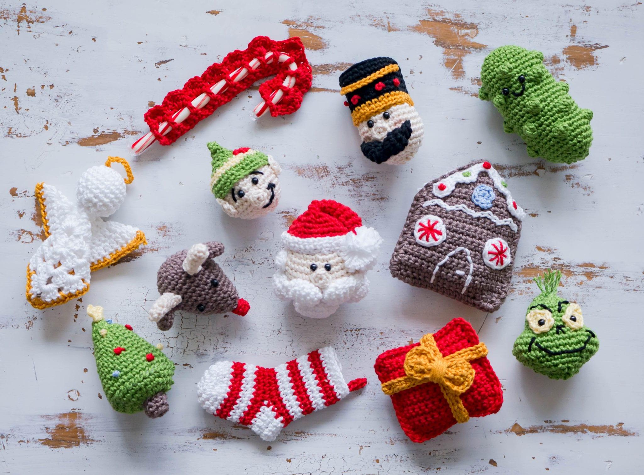 Crochet Present Christmas Ornament - Sewrella