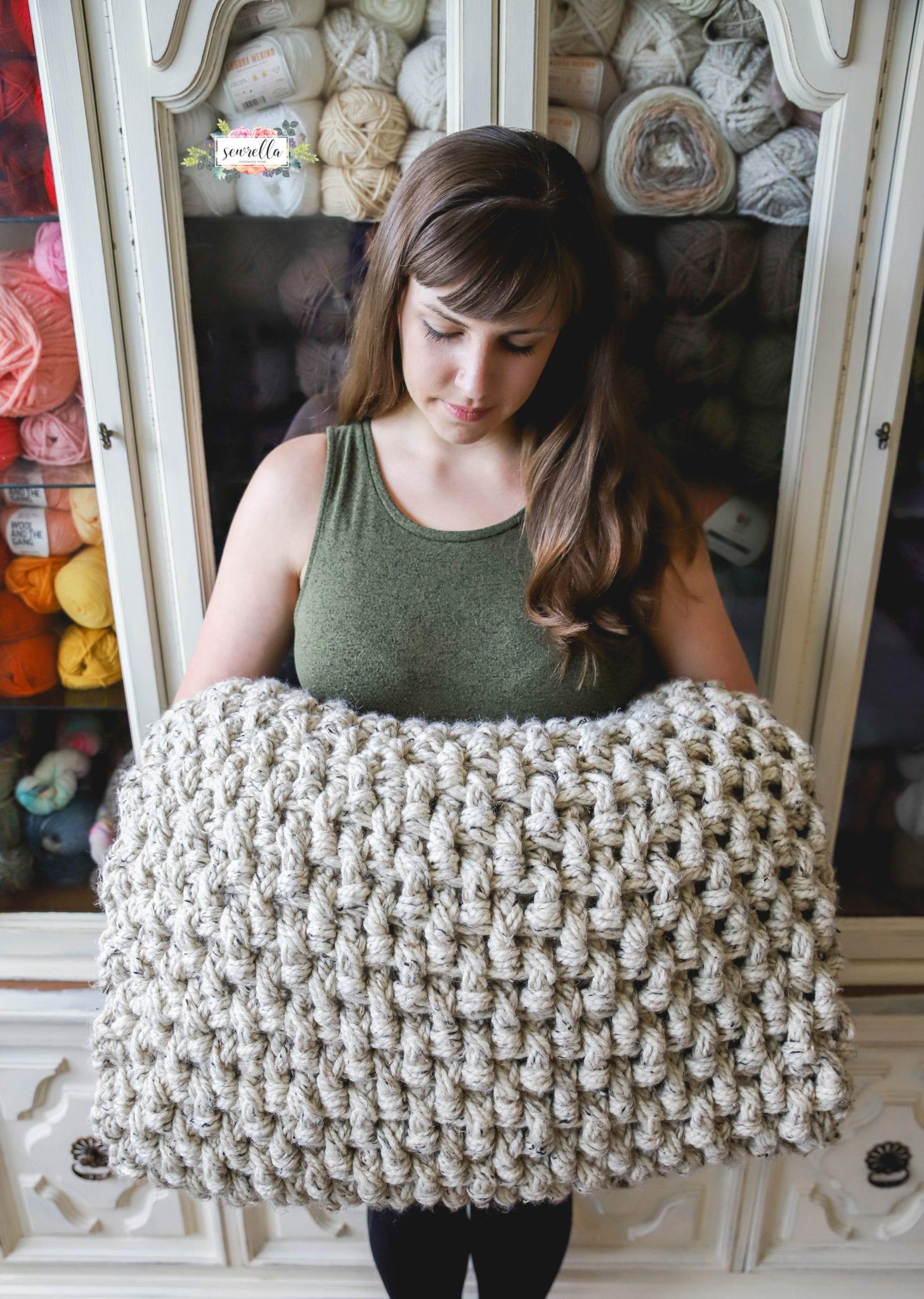 Crochet Mini Basketweave Blanket Sewrella