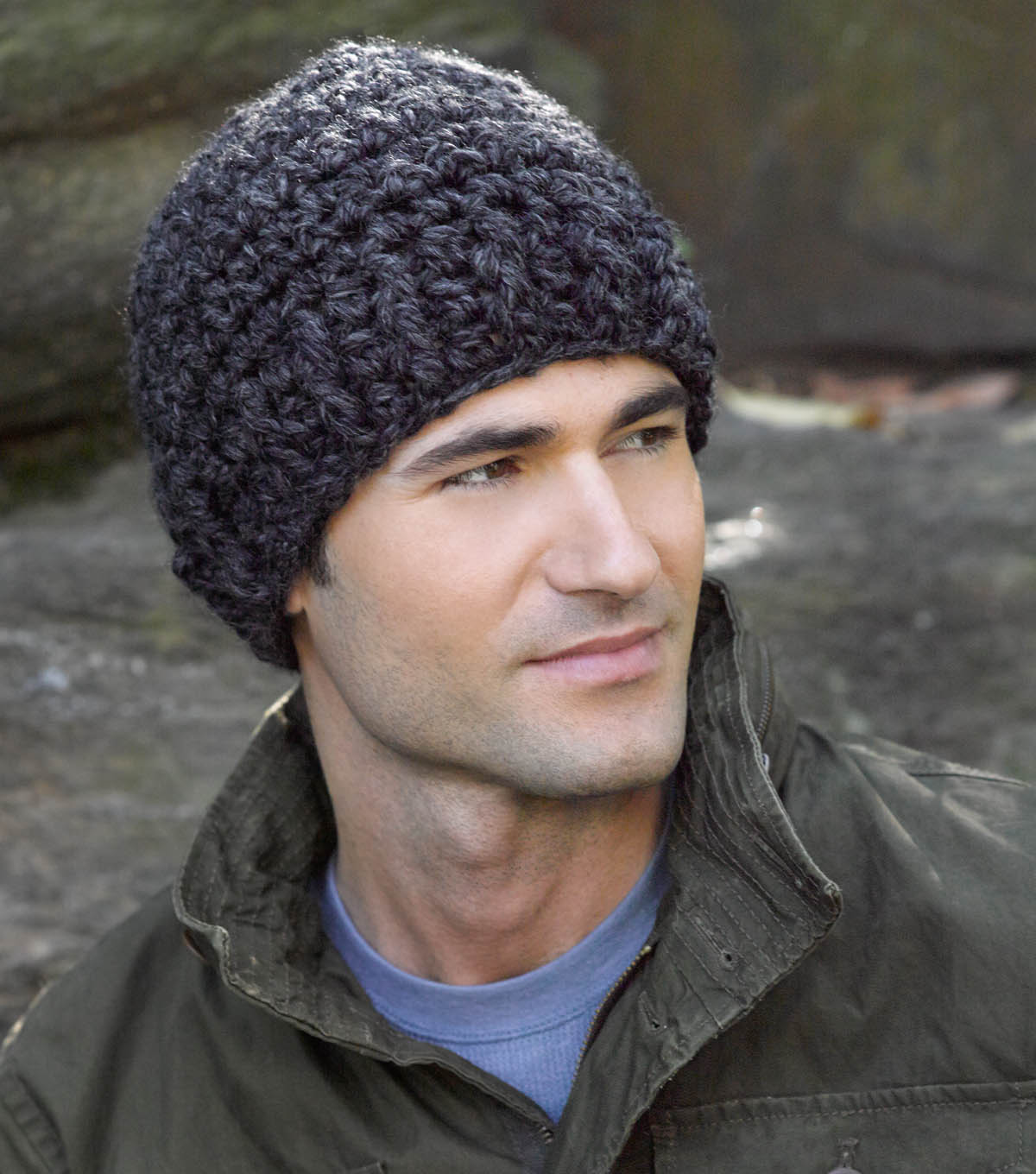 Husband approved crochet hats for men sewrella simple grey crochet hat bankloansurffo Image collections