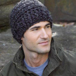 Simple Grey Crochet Hat