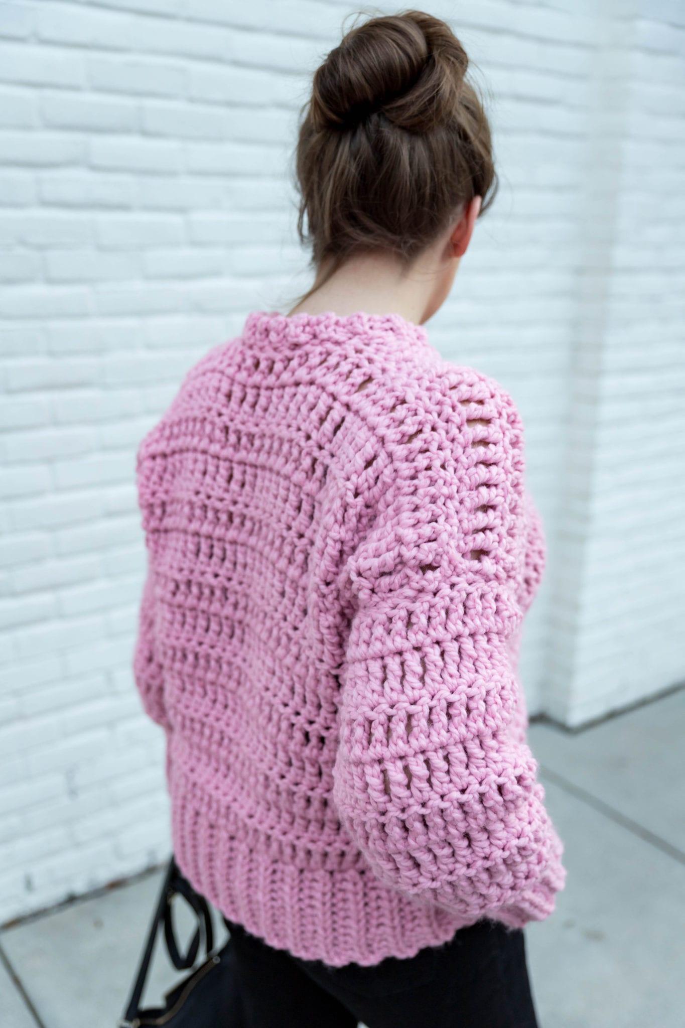 Crochet Bubblegum Pullover Sweater - Sewrella