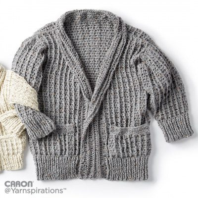 Caron Crochet Chill Time Adult's Cardigan