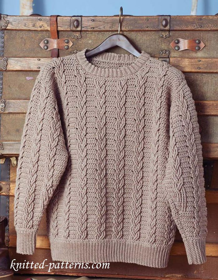 801e71f80 Husband-Approved Free Crochet Sweater Patterns - Sewrella