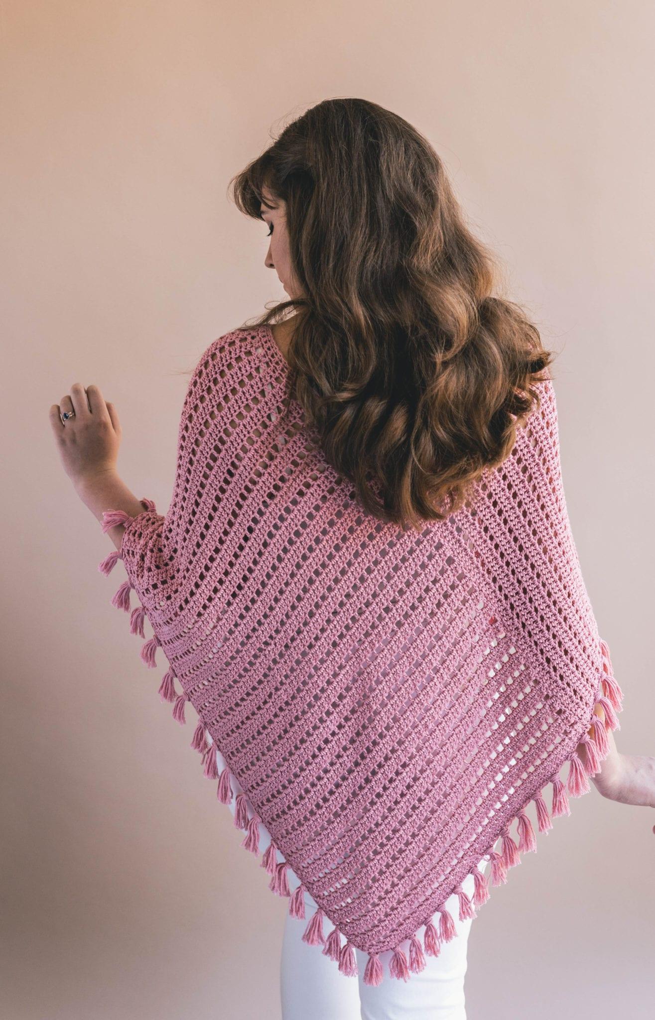 Crochet Ava Fringed Poncho - Sewrella