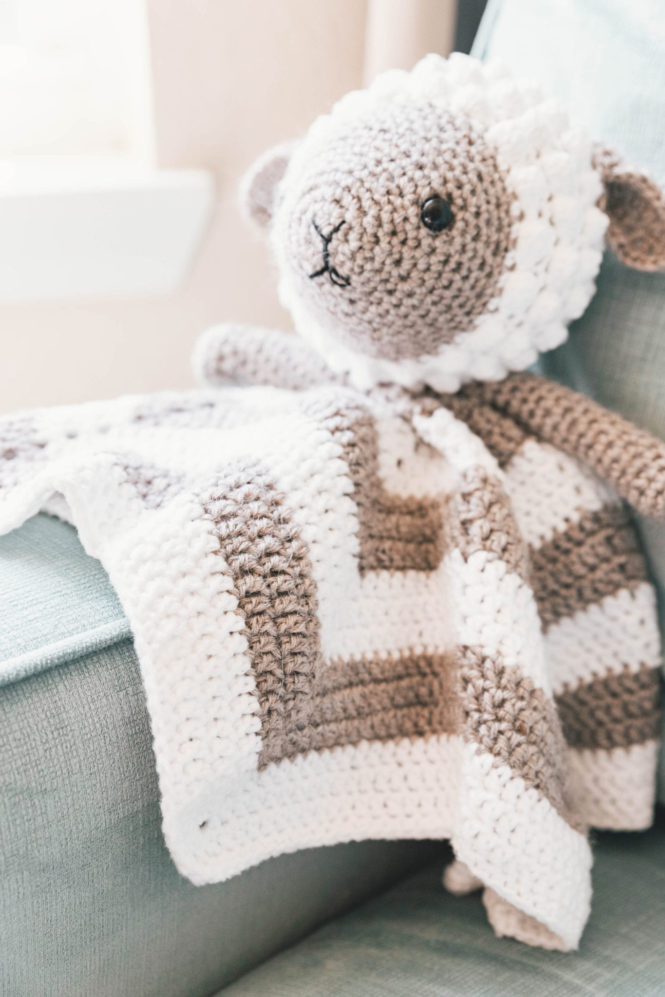 Crochet Little Lamb Lovey Sewrella