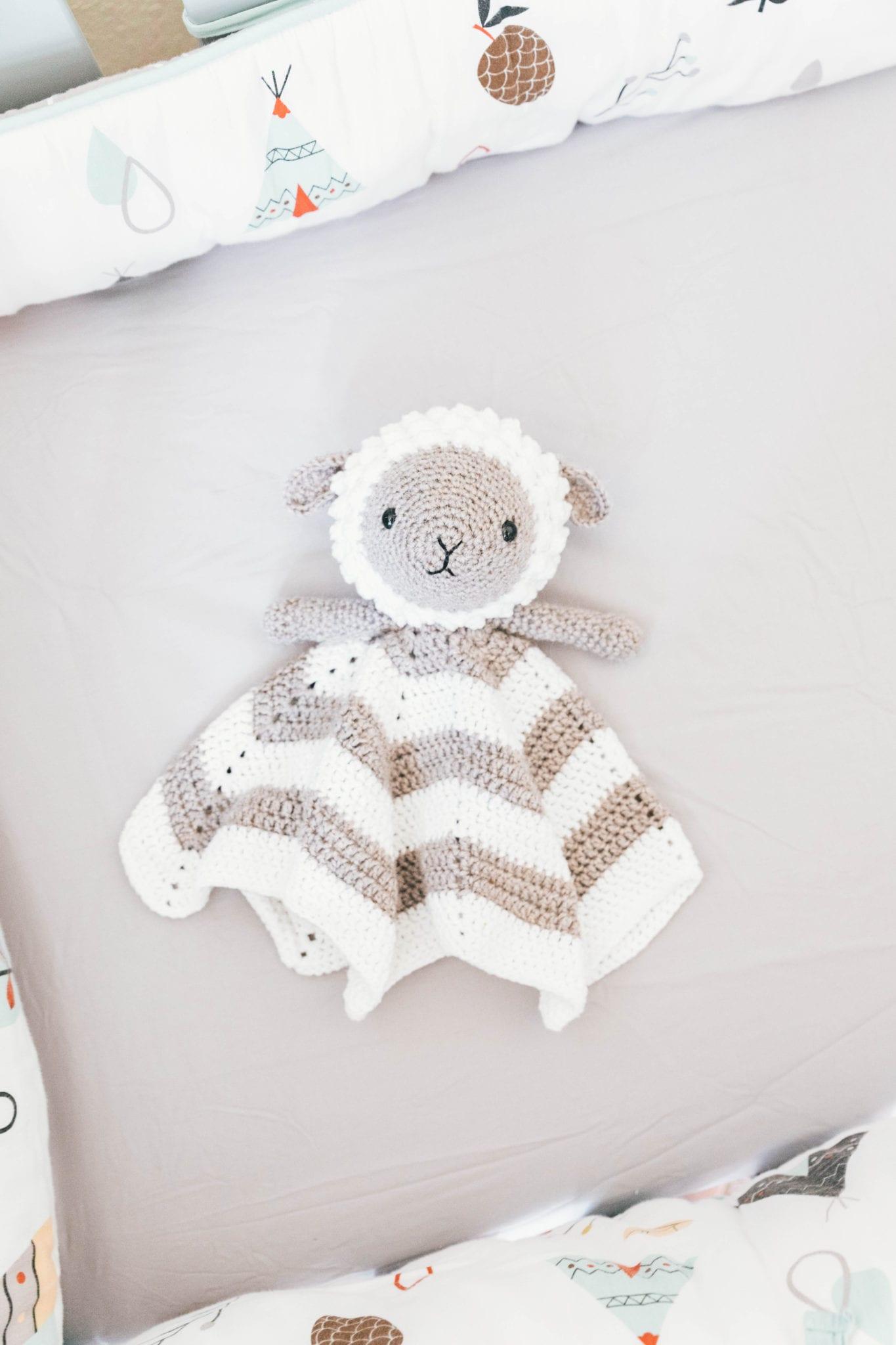Crochet Little Lamb Lovey Sewrella