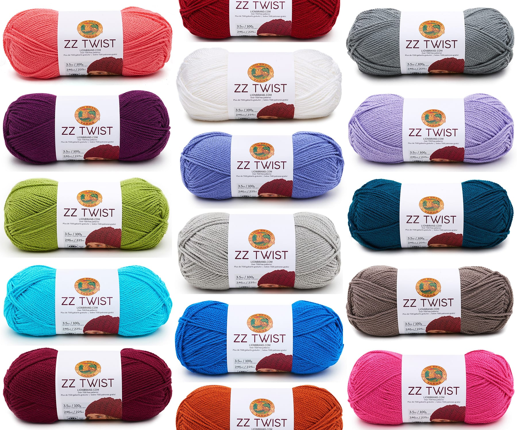Lion Brands Zz Twist Yarn For Crocheters Knitters Sewrella