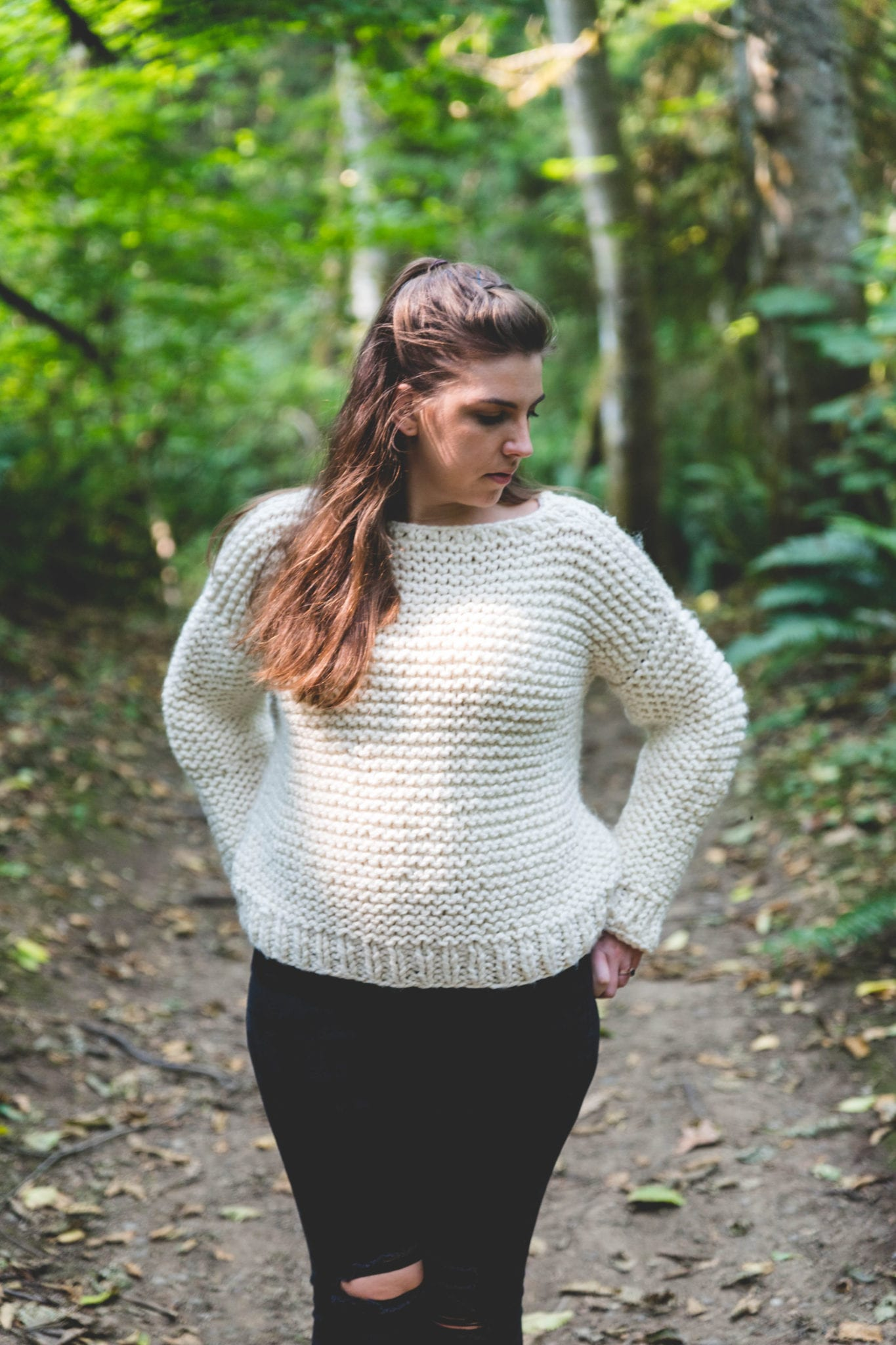 Beginner Knit Garter Stitch Sweater Free Pattern Sewrella