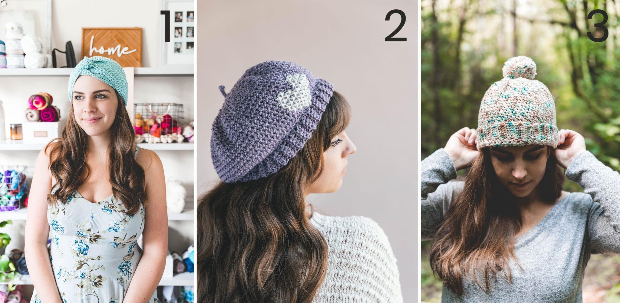 d3adba54e787e Easy Crochet Brooklyn Ridge Hat - free pattern - Sewrella