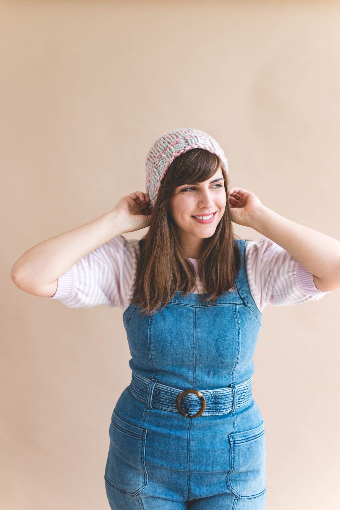 ad3bacc0640 Knit Thick   Quick Gwen Hat - Sewrella