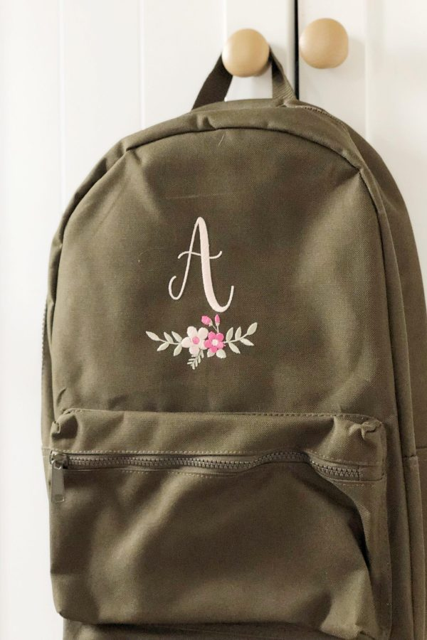 Personalised Adult Floral Initial Backpack – www.sewsian.com