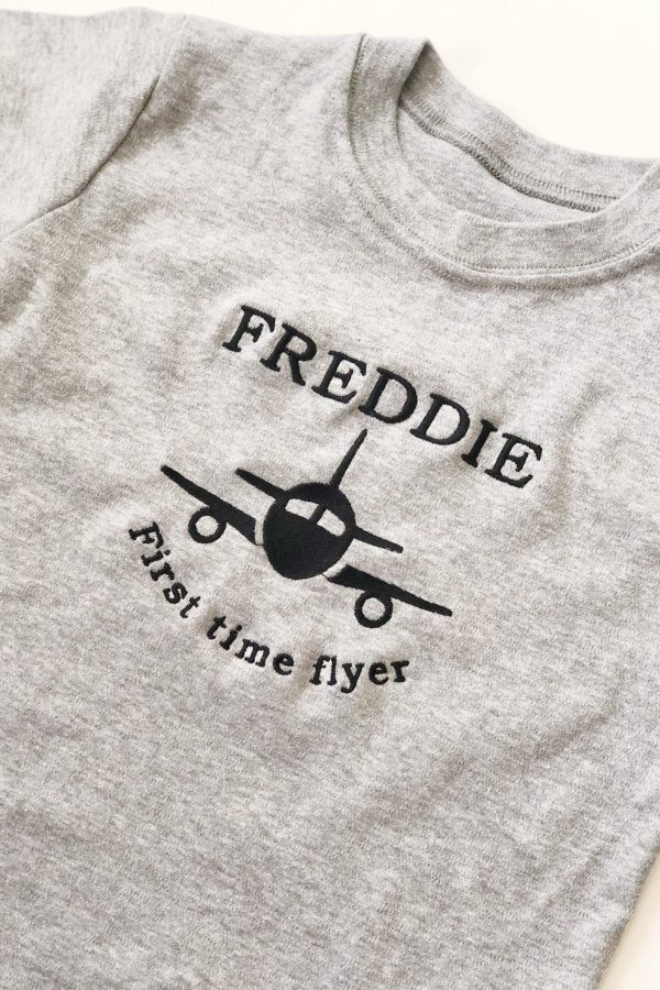 Personalised First Time Flyer T-Shirt – www.sewsian.com