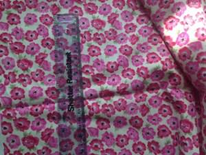 pink floral cotton