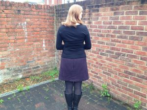 Back view of Skirt Showing Invisible Zip