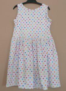 Girls polkadot dress back view