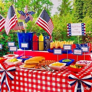 Hot-Dog-Bar-300x300 July 4th Party Fun