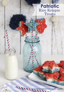 Patriotic-Rice-Krispy-Treats-by-Blooming-Homestead-208x300 July 4th Party Fun