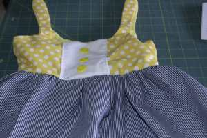 Sew-the-Skirt-to-the-Bodice-300x200 Easy to Make Adorable Toddler Dress