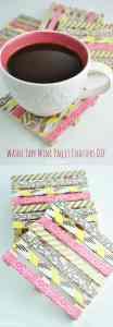 Washi-Tape-Mini-Wood-Pallet-Coasters-104x300 Washi tape mini wood pallet DIY coasters