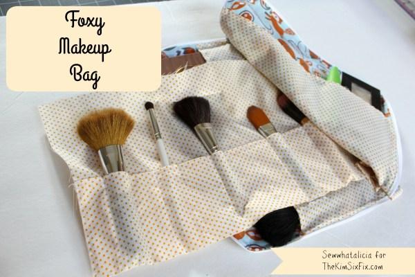 Foxy Makeup Bag   sewwhatalicia.com