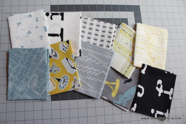 pictured collection of fat quarter fabrics
