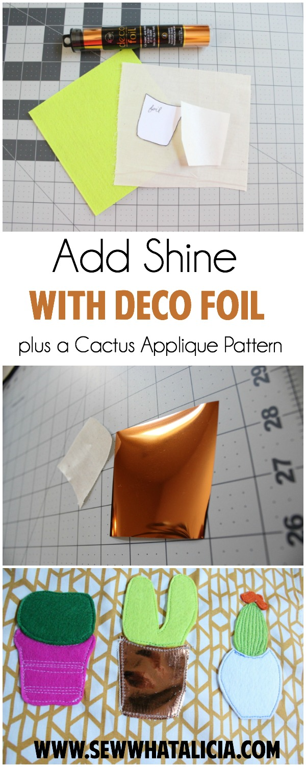 Tips for Adding Shine with Deco Foil | www.sewwhatalicia.com