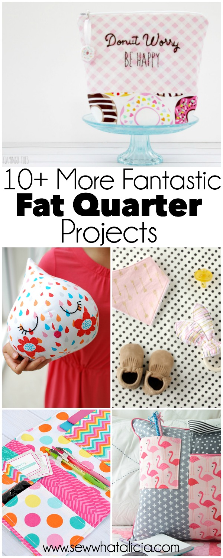 10 More Fantastic Fat Quarter Projects | www.sewwhatalicia.com