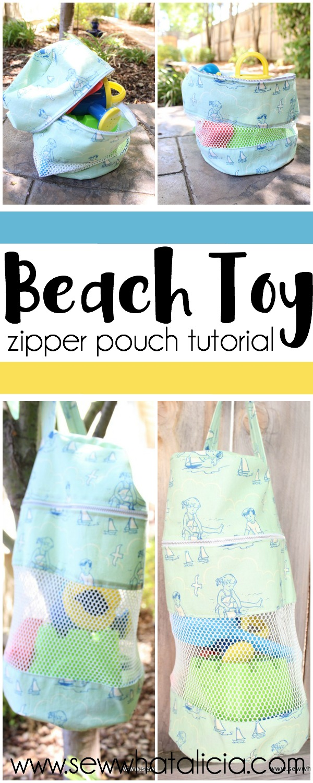 Beach Toy Zipper Pouch   www.sewwhatalicia.com