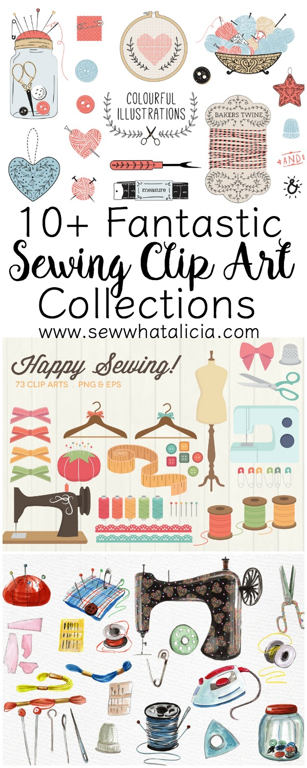 10+ Fantastic Sewing Clip Art Collections | www.sewwhatalicia.com