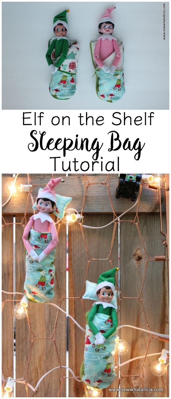elf on the shelf sleeping bag tutorial sew what alicia