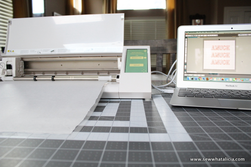 How to Use a Freezer Paper Stencil on Fabric: If you want to customize all your stuff with a stencil but are kind of hesitant about using it on fabric then this is for you! Click through for tips and tricks to creating and using a freezer paper stencil on fabric! | www.sewwhatalicia.com
