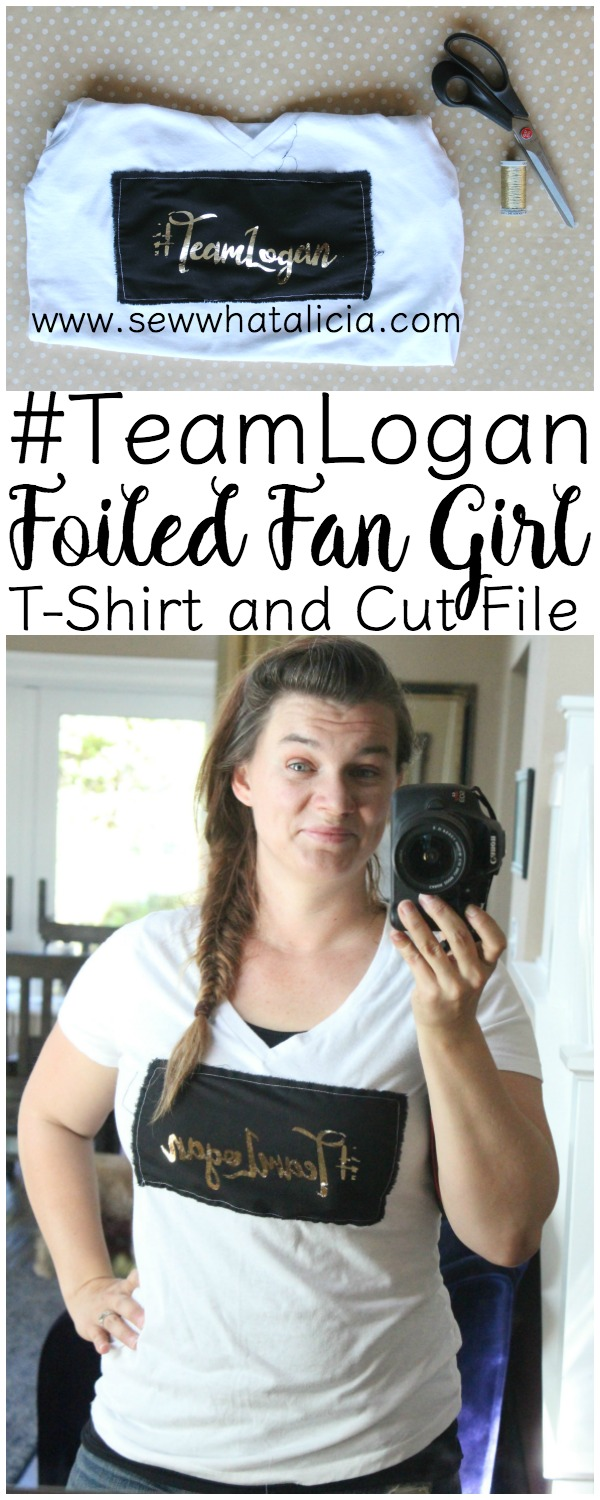 #TeamLogan Fan Girl Shirt - With Free Cut File for Silhouette : If you are half as excited as I am about Gilmore Girls then you definitely need a fan girl shirt! Click through for the full tutorial plus a free cut file. Use the file on anything, not just for a t-shirt! #teamlogan | www.sewwhatalicia.com