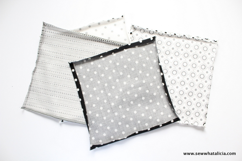 How to Make Your Own Cocktail Napkins Plus Free Cut File: These cocktail napkins are quick and easy to whip up. You could even make them no sew. Click through for the free Pop Fizz Clink cut file and to get the full tutorial. | www.sewwhatalicia.com