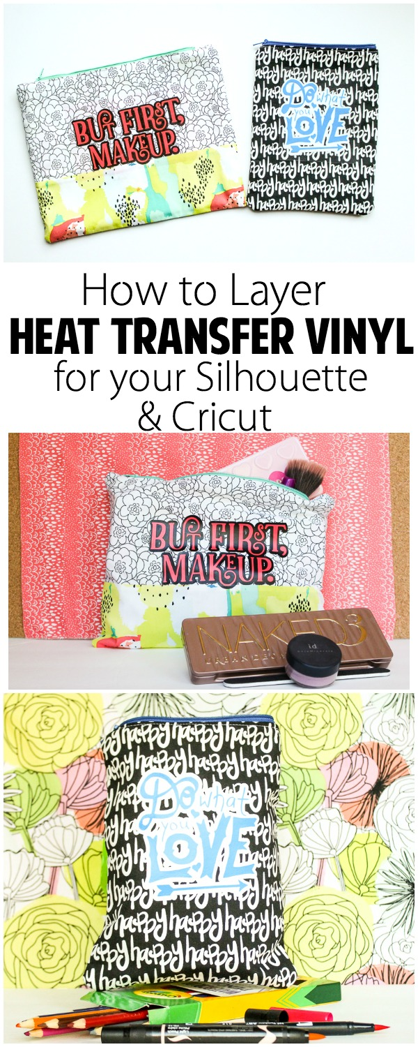 How to Customize Your Sewing with HTV: If you love to add a personal touch to your sewing or even to something you purchased then adding vinyl is a great option. Click through for a great tutorial for using heat transfer vinyl to customize your projects. | www.sewwhatalicia.com