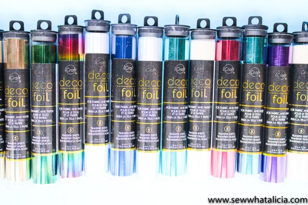 How to Foil Projects Three Ways: If you are looking to add foil to your projects then you NEED to check out this post. Video tutorials for using foil in three different ways. You can use it on fabric AND paper! Click through for the full tutorials! | www.sewwhatalicia.com