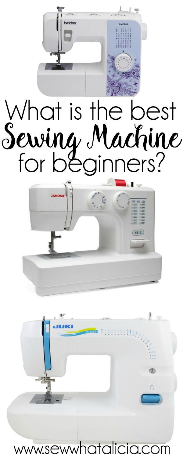 What is the Best Sewing Machine for Beginners?   If you are looking into getting your first sewing machine then look no further. This post compiles hundreds of ratings and reviews to help you decide which machine is best for you. Click through for the full list.   www.sewwhatalicia.com