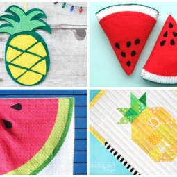 10+ Fruity Summer Sewing Project Ideas