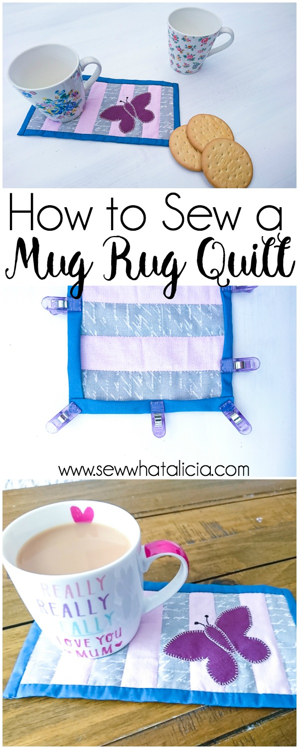 How to Make a Mini Quilt - Tutorial: This easy beginner tutorial is perfect for learning to sew a mini quilt/mug rug. Click through for the full tutorial.| www.sewwhatalicla.com