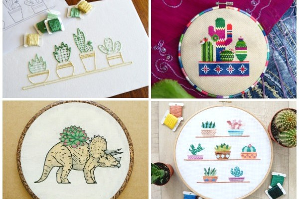 10+ Succulent Patterns that Don't Suck: If you love succulents and sewing then this post is for you! Here is a fun collection of succulent patterns for embroidery, sewing, and cross stitch that will help you get your succulent fill! Click through for the full list.| www.sewwhatalicia.com