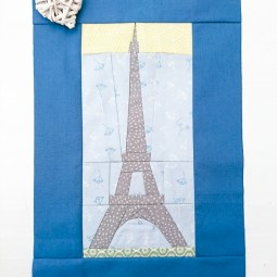 Eiffel Tower Paper Piecing Tutorial: This foundational paper piecing sewing tutorial is a great step by step walk through. This is great for beginners and newbies. Click through for the full tutorial. | www.sewwhatalicia.com