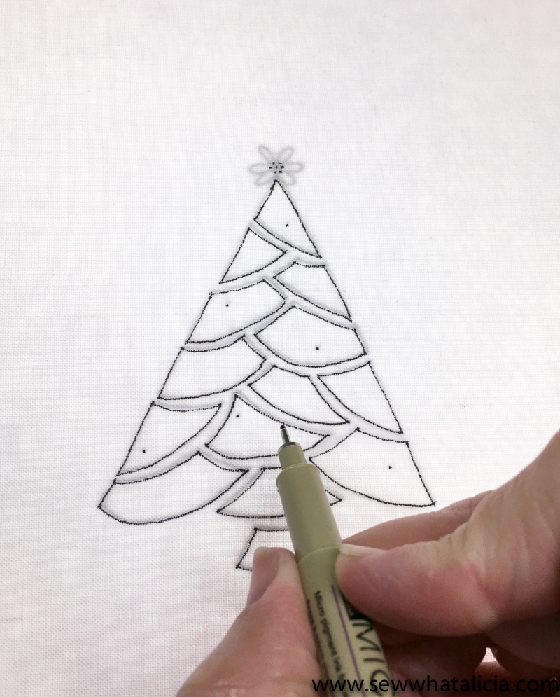 Embroidered Christmas Tree Pattern and Tutorial - Sew What, Alicia?