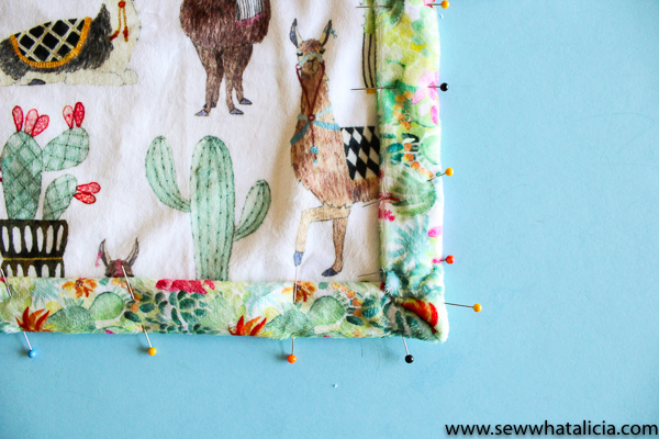Minky Baby Blanket Tutorial: This is a great tutorial for beginners wanting to work with minky fabric. This blanket is self binding and is made with one seam. Click through for the full sewing tutorial. | www.sewwhatalicia.com