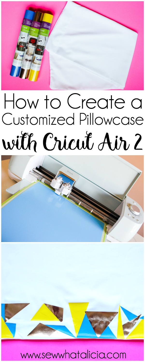 How to Customize a Pillowcase with a Cricut: This is a fun tutorial that is great for Cricut newbies. Learn to use your cutting machine for this fun and easy project. Click through for the full tutorial. | www.sewwhatalicia.com