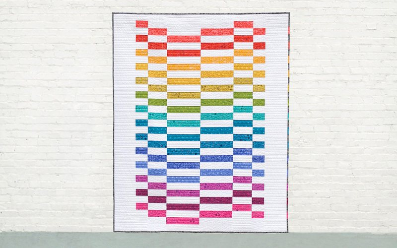 10+ Fabulous Rainbow Quilt Patterns