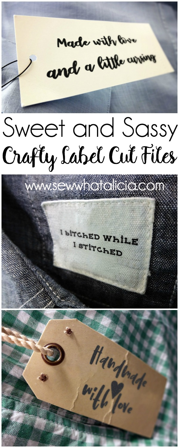 8 Crafty Handmade Labels Cut Files: These handmade files are perfect for adding some customization to your handmade project. Grab the free cut files to print or use with your cutting machine. Click through for all the files and instructions for use. | www.sewwhatalicia.com