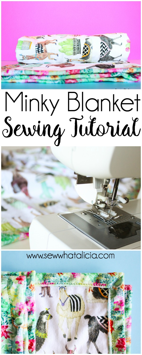 Self Binding Baby Blanket Tutorial - Sew What, Alicia?