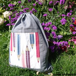 Drawstring Backpack Sewing Tutorial – Pencil Paper Piecing